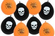 Halloween Luftballons in Orange und Schwarz für Ihre Halloweenparty